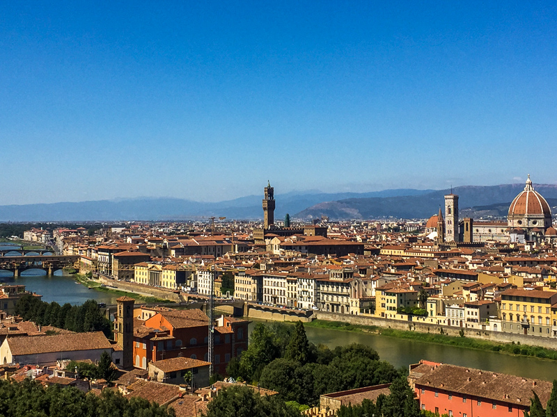 Postcard view of Florence from Piazzale Michelangelo
