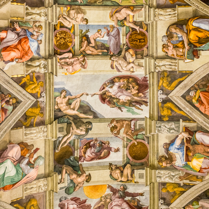 Sneeky Picture of the Sistine Chapel, Vatican Museum, Rome