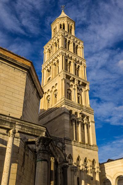 The impressive St Domnius Bell Tower in Split