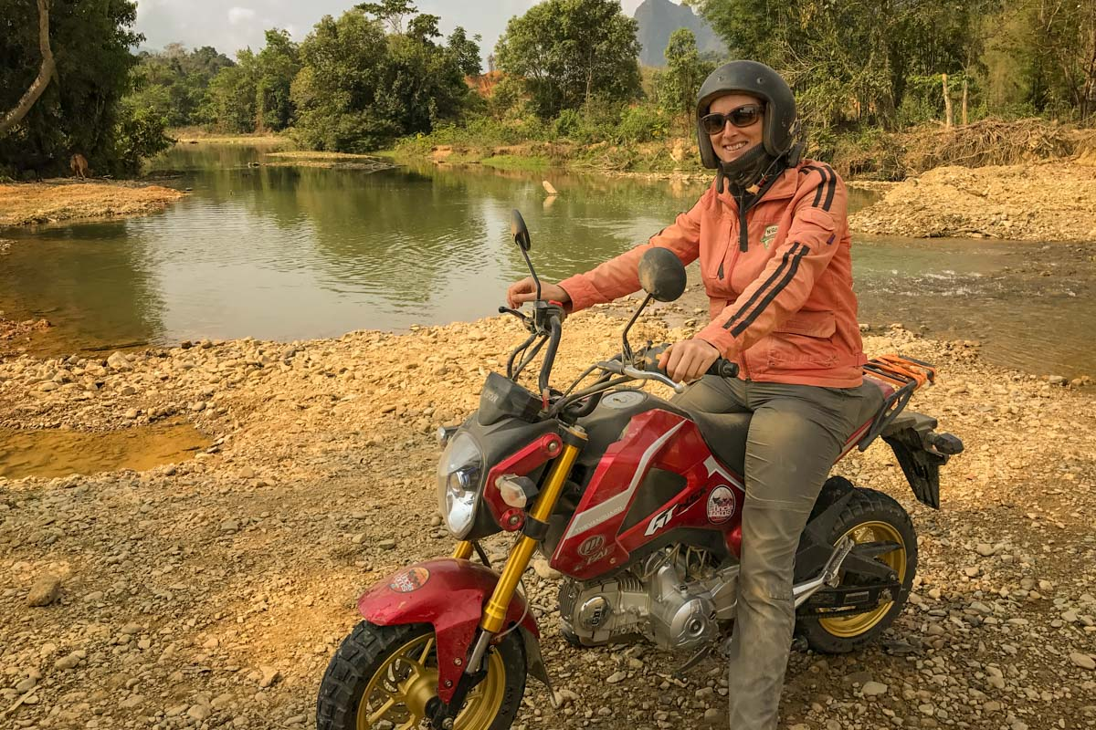 Adrenaline Overload: My First Motorcycle Adventure, Laos Style - Join this uncoordinated 40-something first-time rider on the best motorcycle adventure with Uncle Tom's Trails. Seriously the best thing to do in Laos.