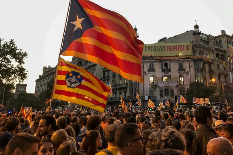 Huge pro-Catalan demonstration Barcelona