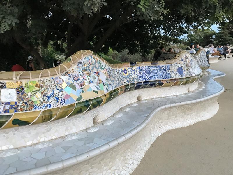 Sea Serpent Bench Park Güell