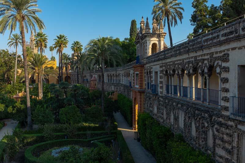 Tranquil gardens of Seville's Alcázar
