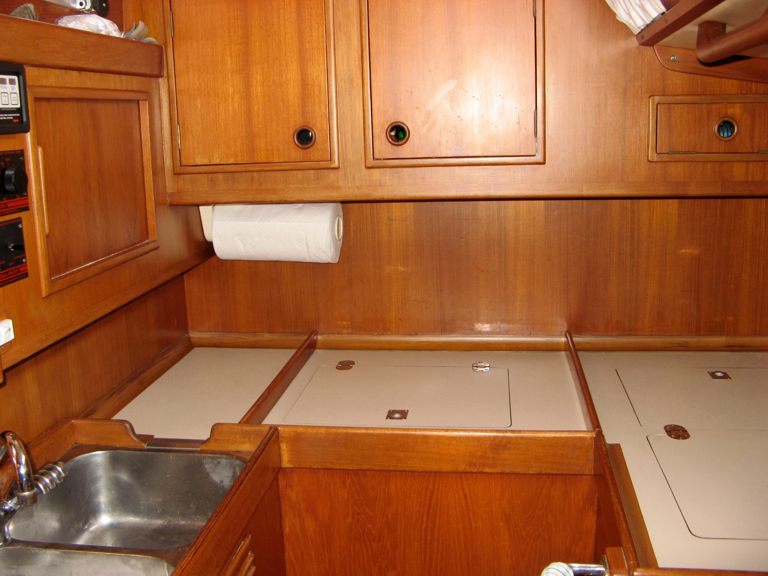 Custom-built refrigerator and freezer.