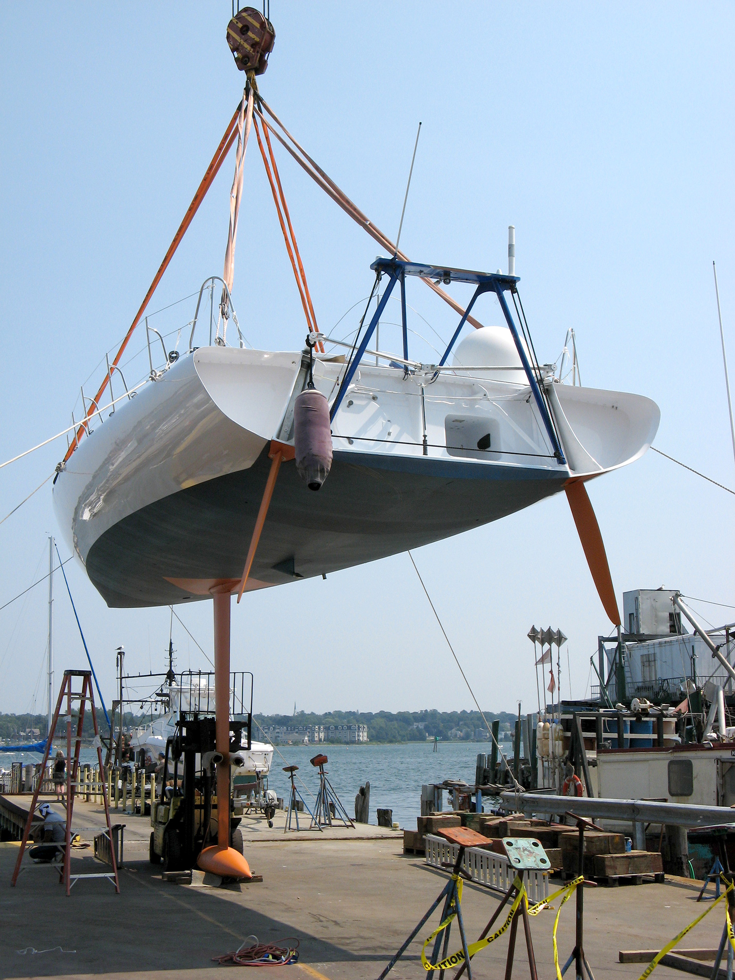 The keel installed after the refit.