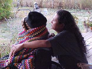 Mia & Rhett Watching the Albuquerque Balloon Fiesta 2003