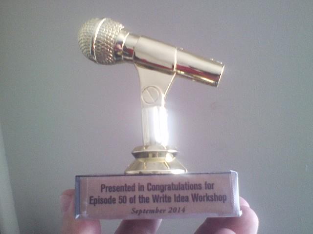 A beautiful award constructed by Best Friend of the show Matt Bitley.