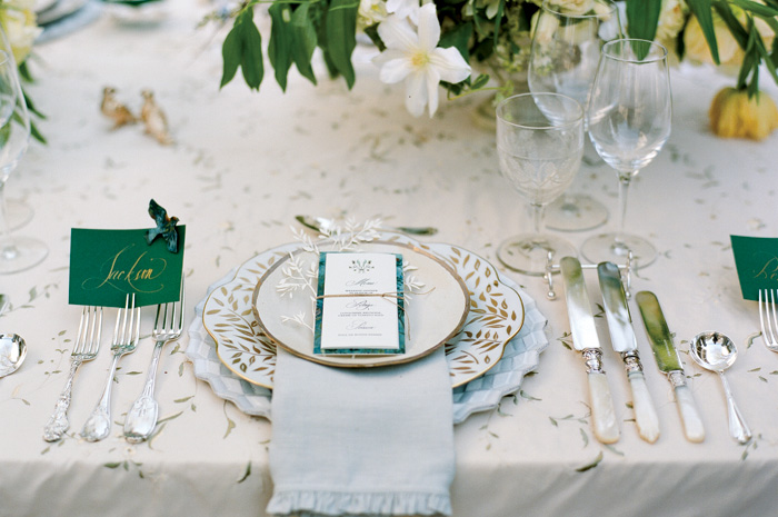 Place Cards - Place cards can designate each guest's seat at a table. These cards typically contain just a guest's first name, but if you have friends and family with the same name, a last initial is a wise addition. Options: Escort envelopes (for individuals or couples) with corresponding insert cards denoting which table each guests is seated at. We often see this option paired with a Menu that doubles as a place card with the guest's name written at the top in script.