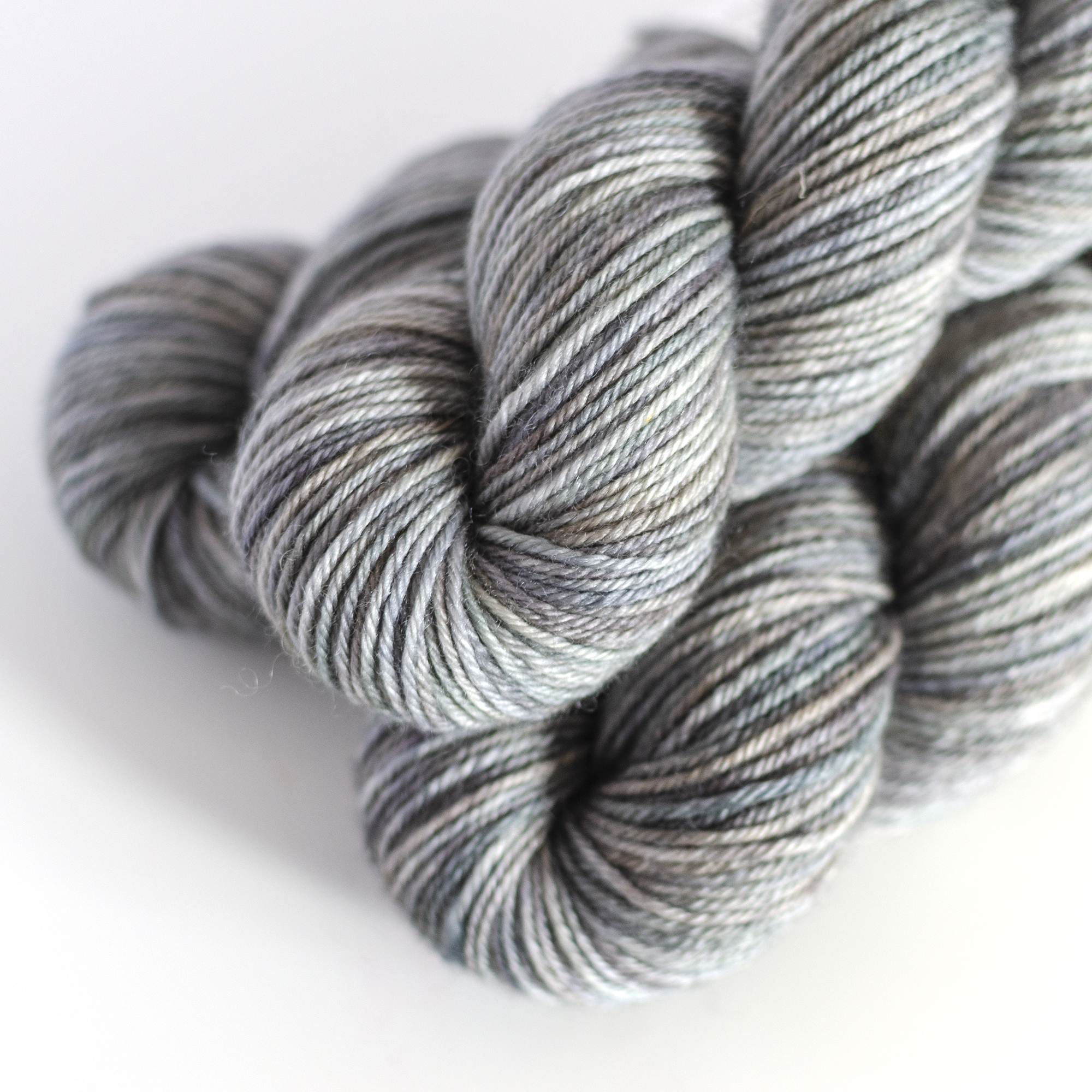 Luna| DK - $23  100% SW British Bluefaced Leicester Wool  4 plies  236 yards / 215 meters  ~95 grams  DK weight  US 5-7 / 3.75-4.5mm  Hand wash or machine wash gentle cycle / Dry flat  Luna | DK has a natural luster and beautiful drape.