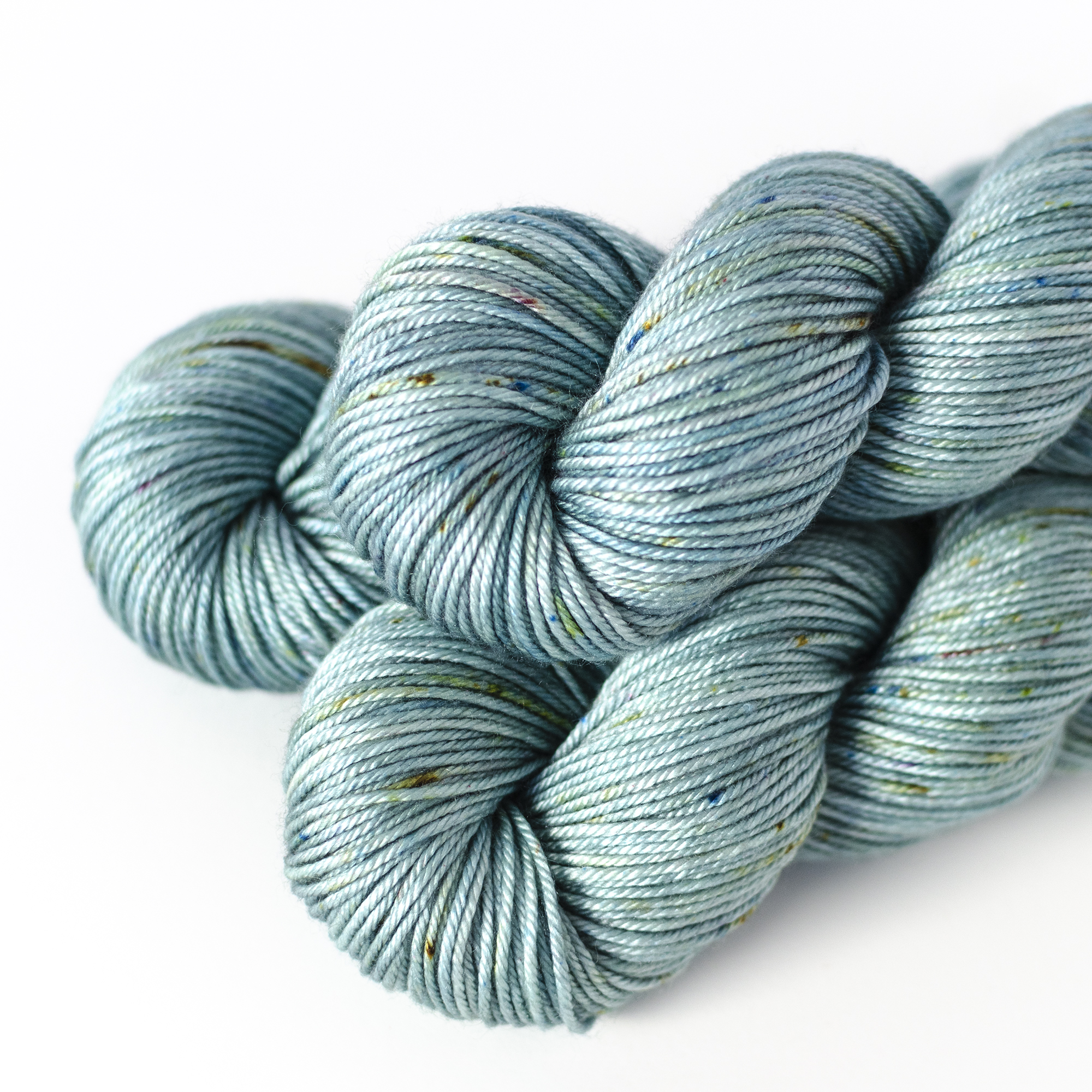 50/50 DK - $32  50% SW Merino Wool, 50% Silk  4 plies  230 yards / 210 meters  100 grams  DK Weight  US 5-7 / 3.75-4.5mm  Hand wash / Dry flat  This DK weight yarn is soft and smooth with excellent drape.