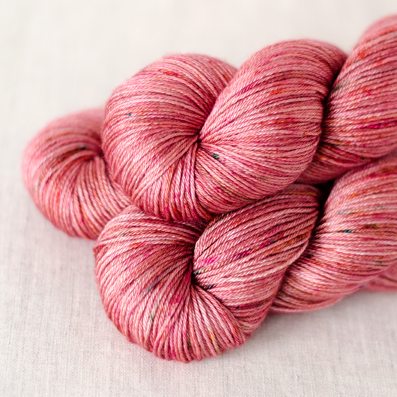50/50 Fingering- $32  50% SW Merino Wool, 50 % Silk  4 plies  435 yards / 398 meters  100 grams  Fingering Weight  US 1-5 /2.25-3.75mm  Hand wash / Dry flat  Just like the DK version, this yarn is soft and silky.