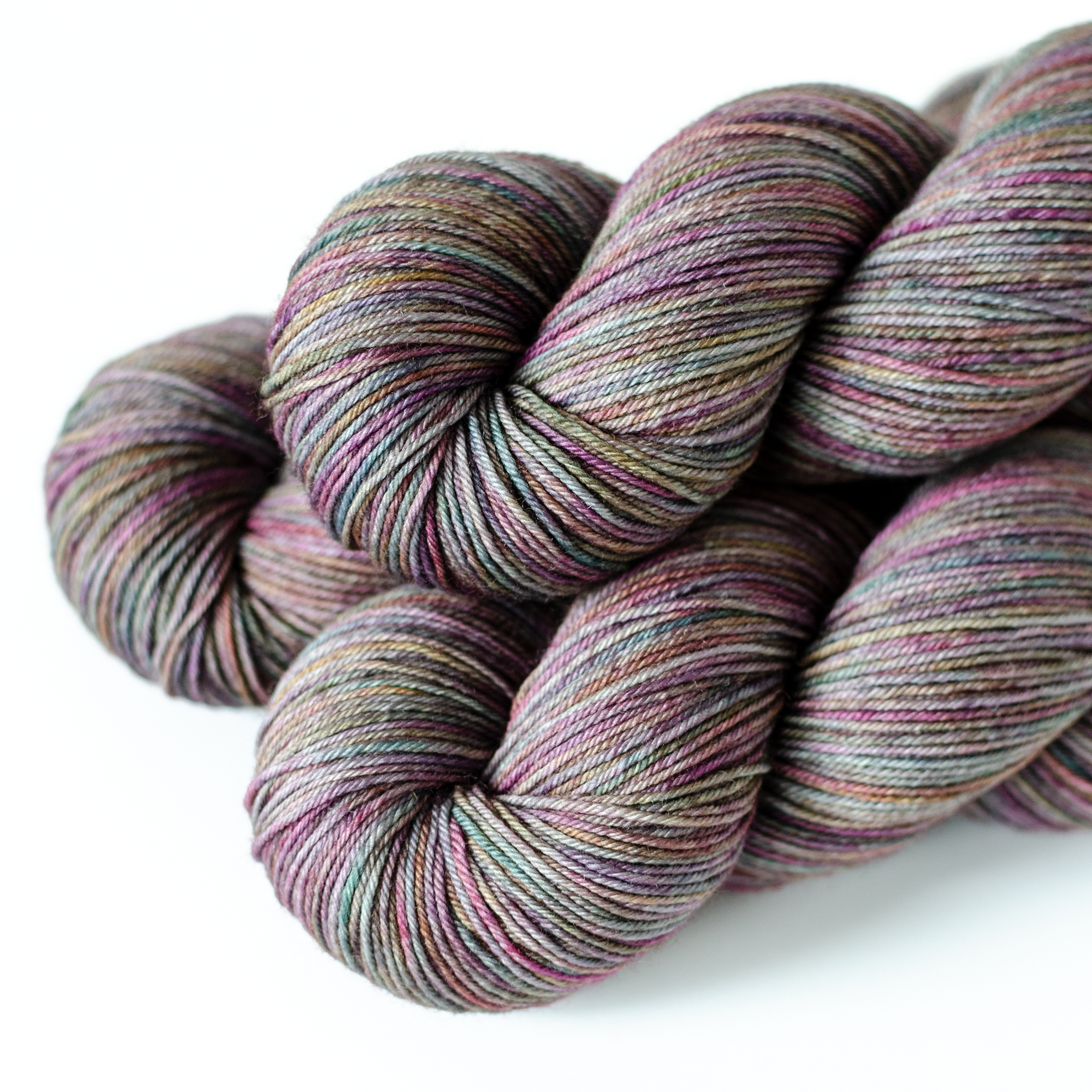 SW Merino Fingering - $25  100% Superwash Merino Wool  4 plies  437 yds / 400 m  100 grams  Fingering Weight  US 1-5 / 2.25-3.75 mm  Hand wash or machine wash gentle cycle / dry flat  This is a soft, smooth, firmly twisted yarn.