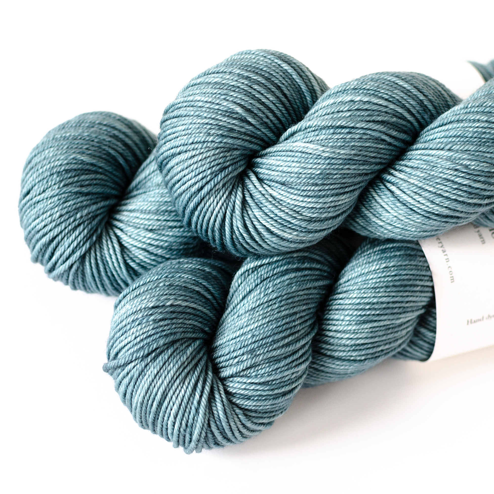 MCN Worsted - $29  80% SW Merino, 10% Cashmere, 10% Nylon  4 plies  225 yards / 206 meters  Worsted Weight  US 6-8 / 4-5mm  Hand wash / Dry flat  This is a soft and smooth yarn with drape. It has a firm twist and is a bit finer in thickness than the SW Merino Worsted base.