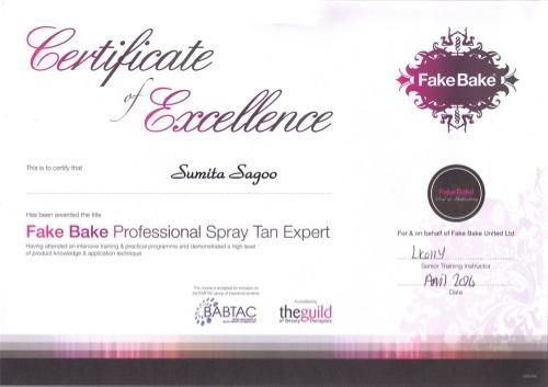 Sumita's Certificate