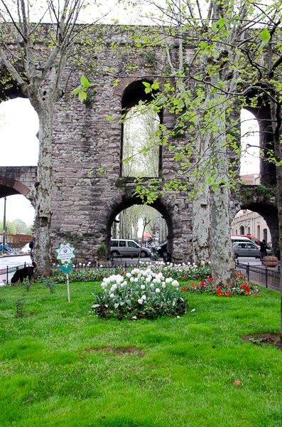 Aqueduct, still standing after 600+ years