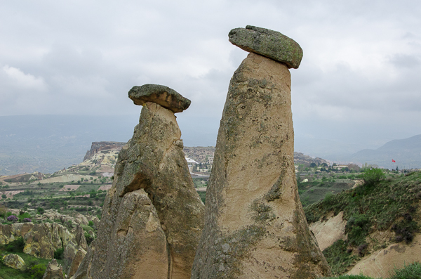 Fairy Chimneys, akin to structures I saw in southern Alberta, CA called whoo hoos?