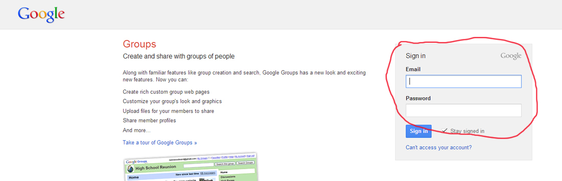 2. Sign in with your Google credentials (which you have if you are a member of the official 1200Grand group).