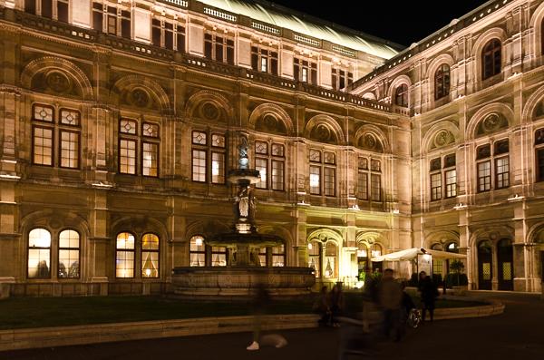 The Opera House, at night