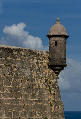 View of castillo from Paseo del Morro