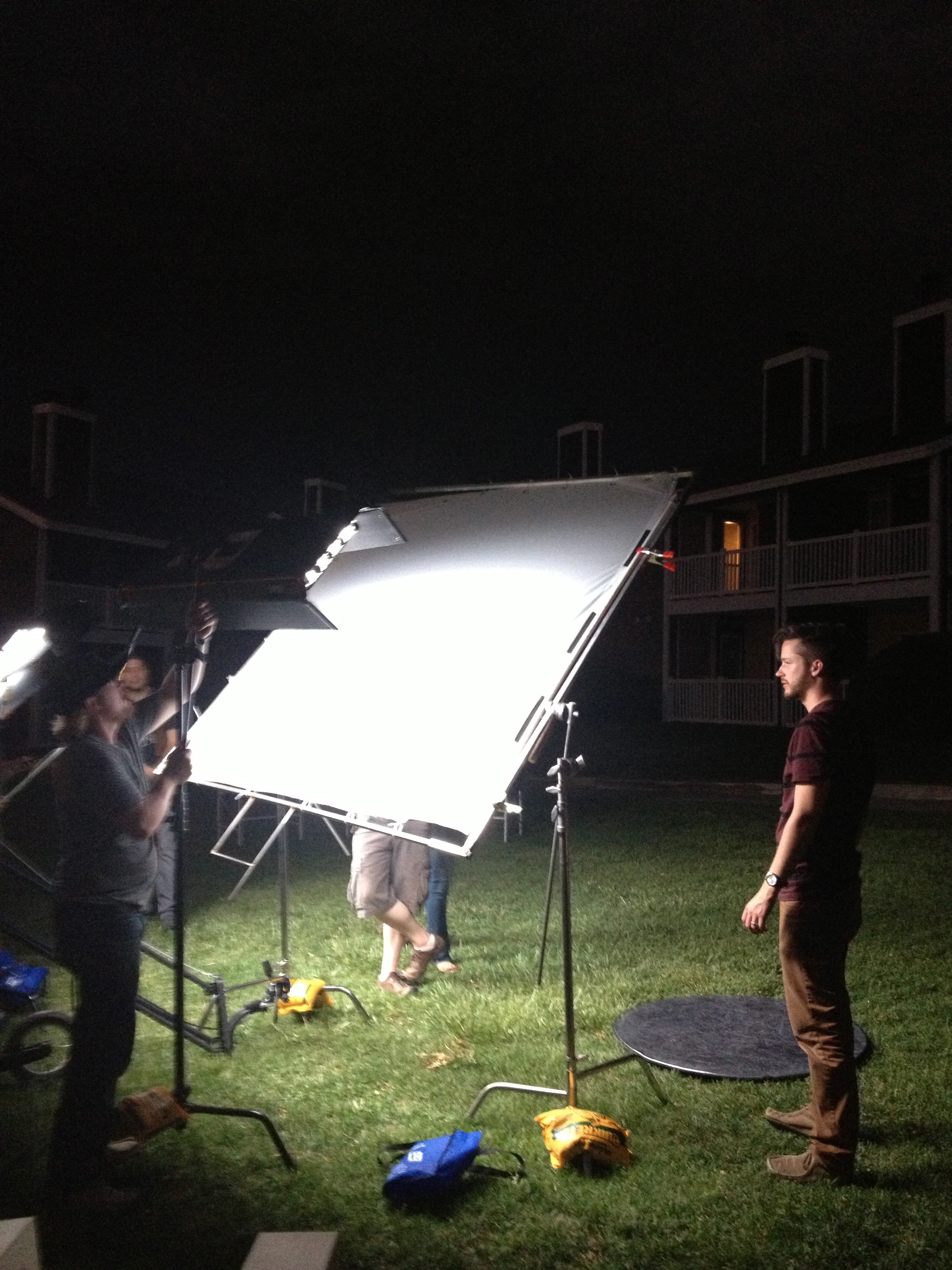 Our entire crew was amazing during this shoot. In this photo, we were racing against a thunderstorm to get the last shot of the day.