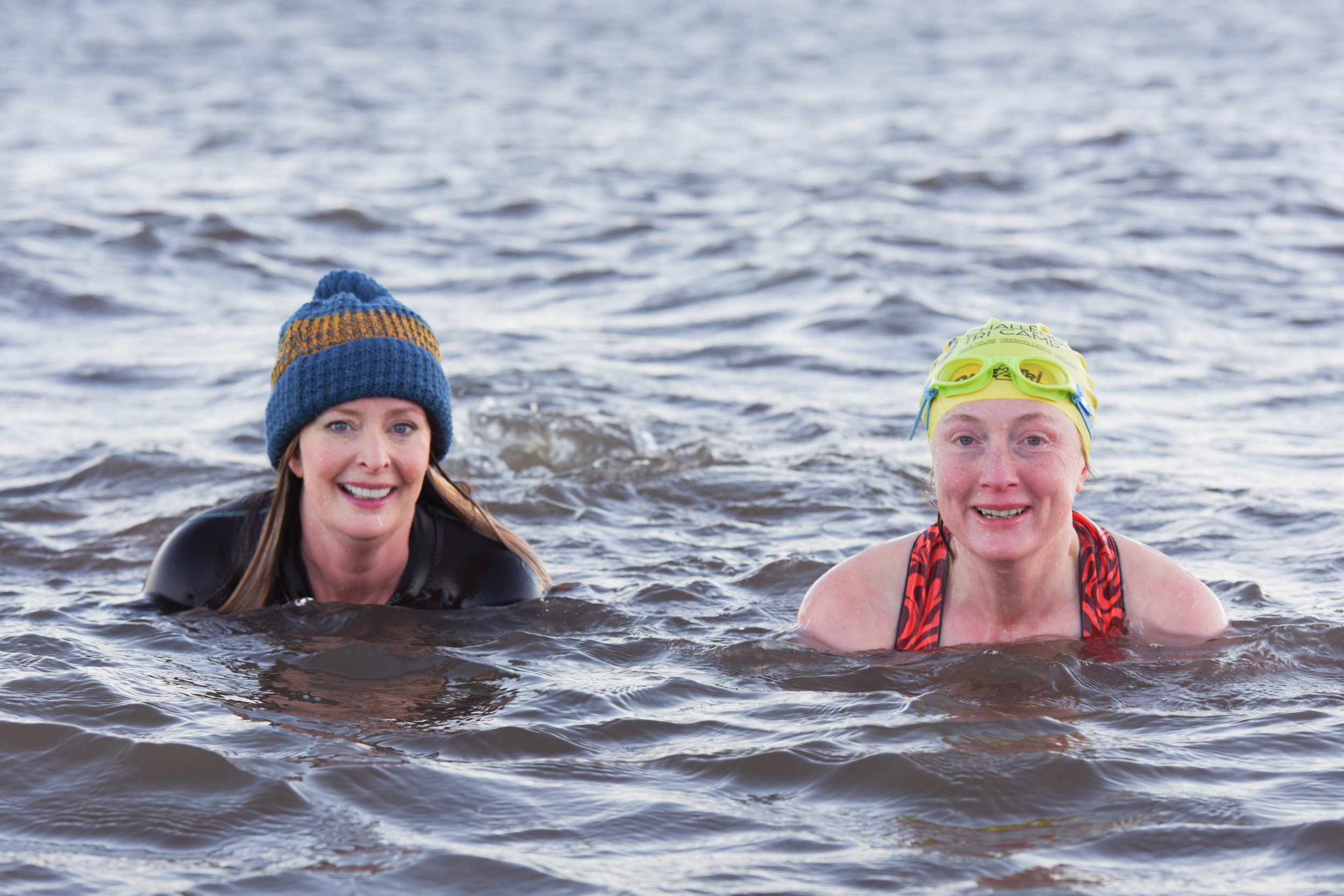 Anna and Vicky one morning off Porty Beach