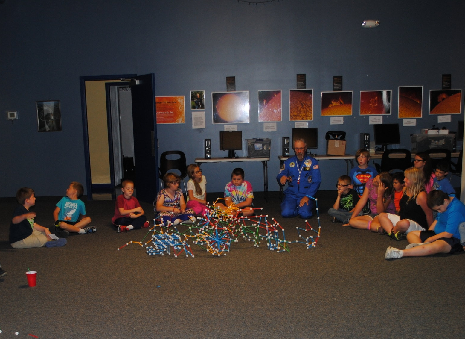 Students from Washington West checking out their space colony.