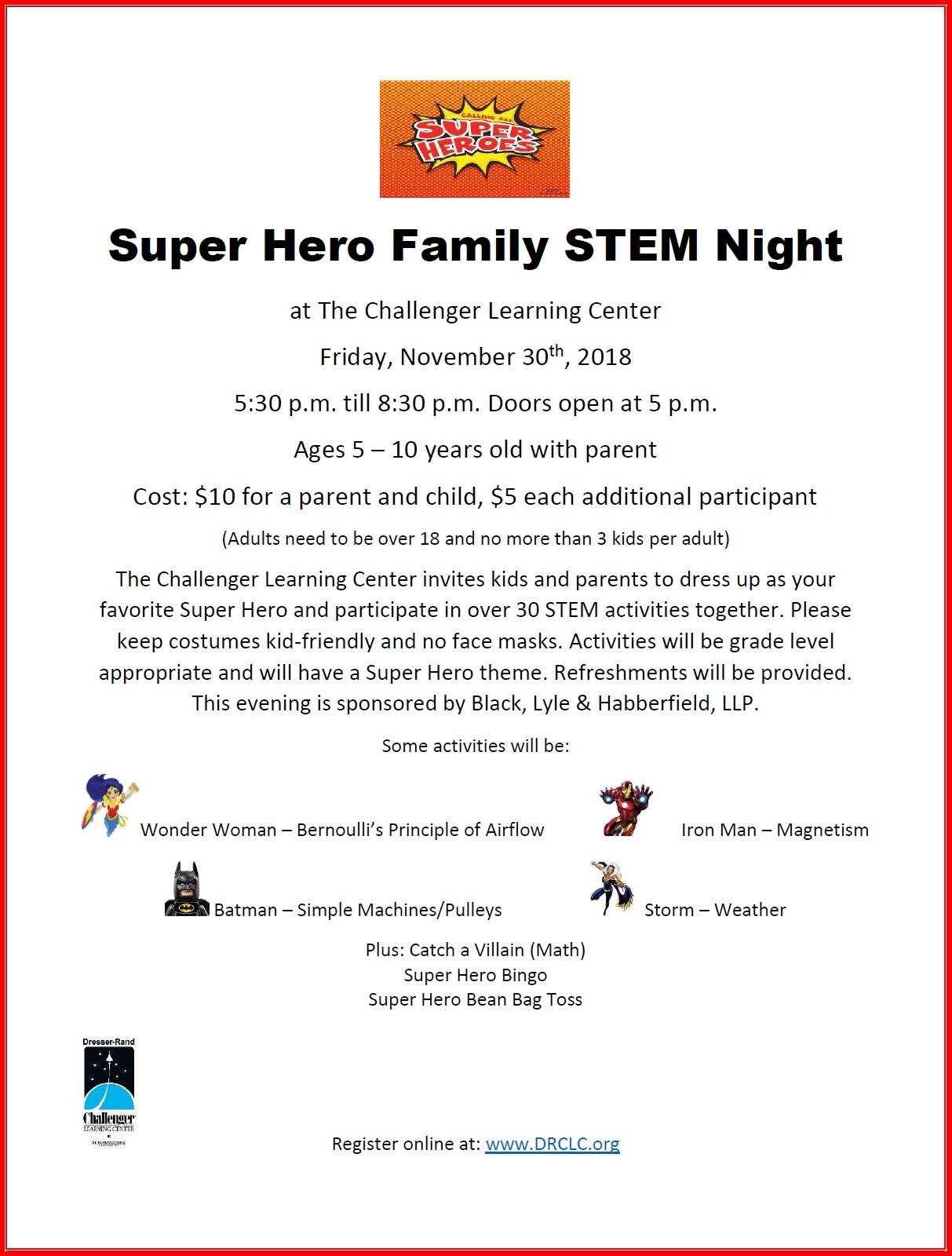Super Hero Family STEM Night flyer.jpg