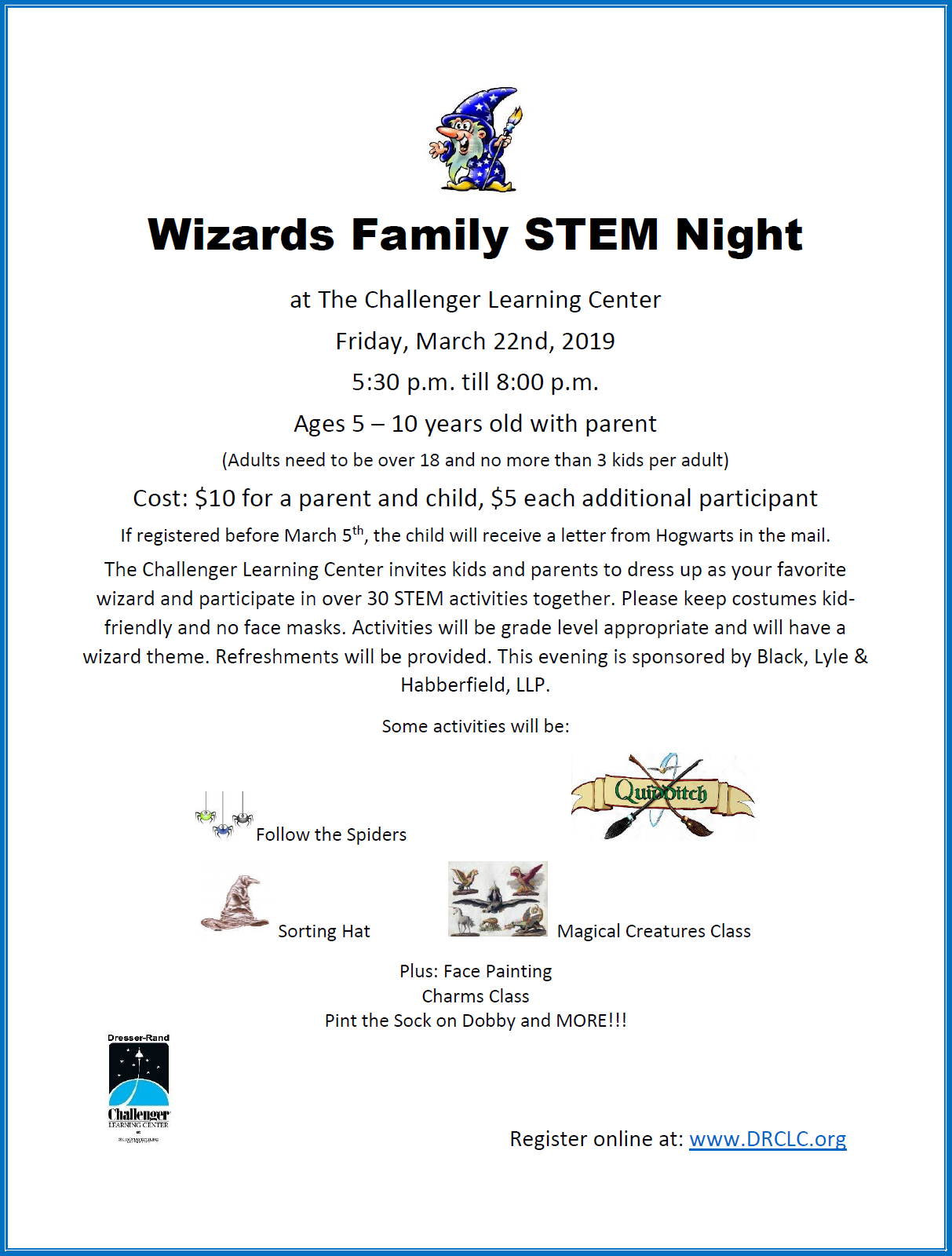 Wizard Family STEM Night flyer.png