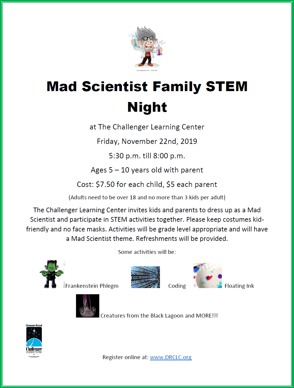 Mad Scientist Family STEM Night flyer.png