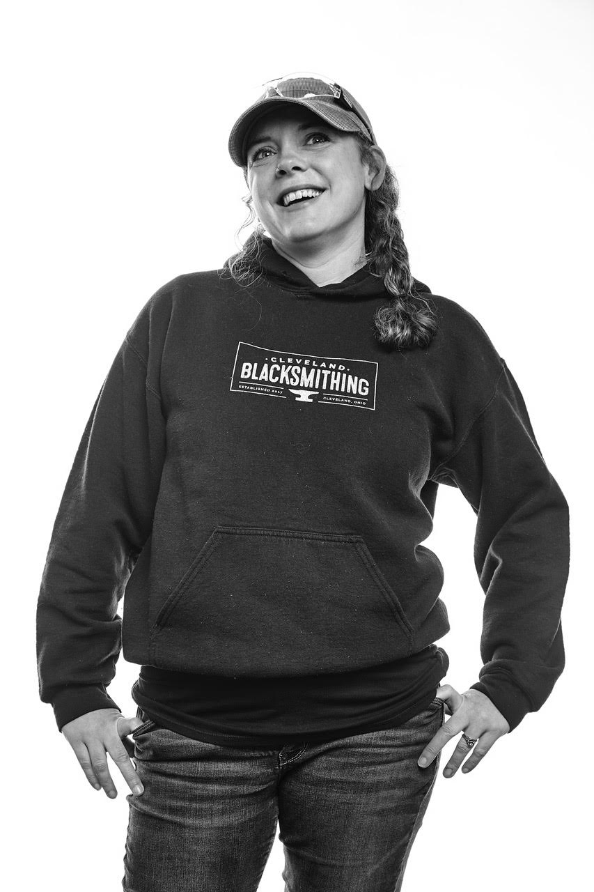 My husband and I co-founded Cleveland Blacksmithing - hence, the hoodie.