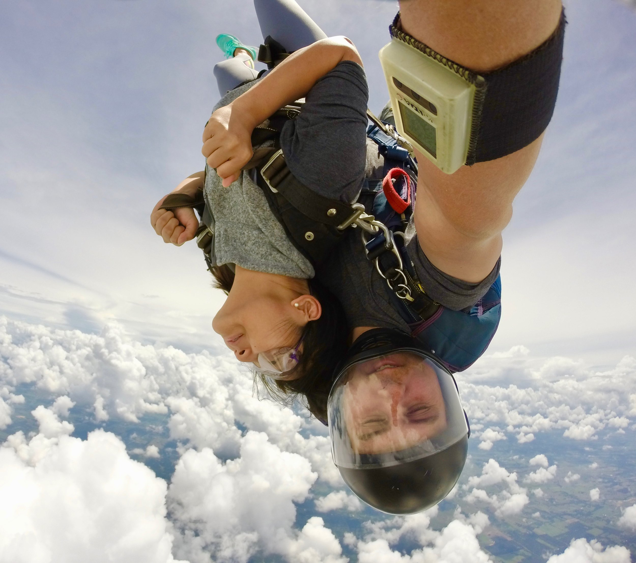 Heads in the clouds at Texas Skydiving!