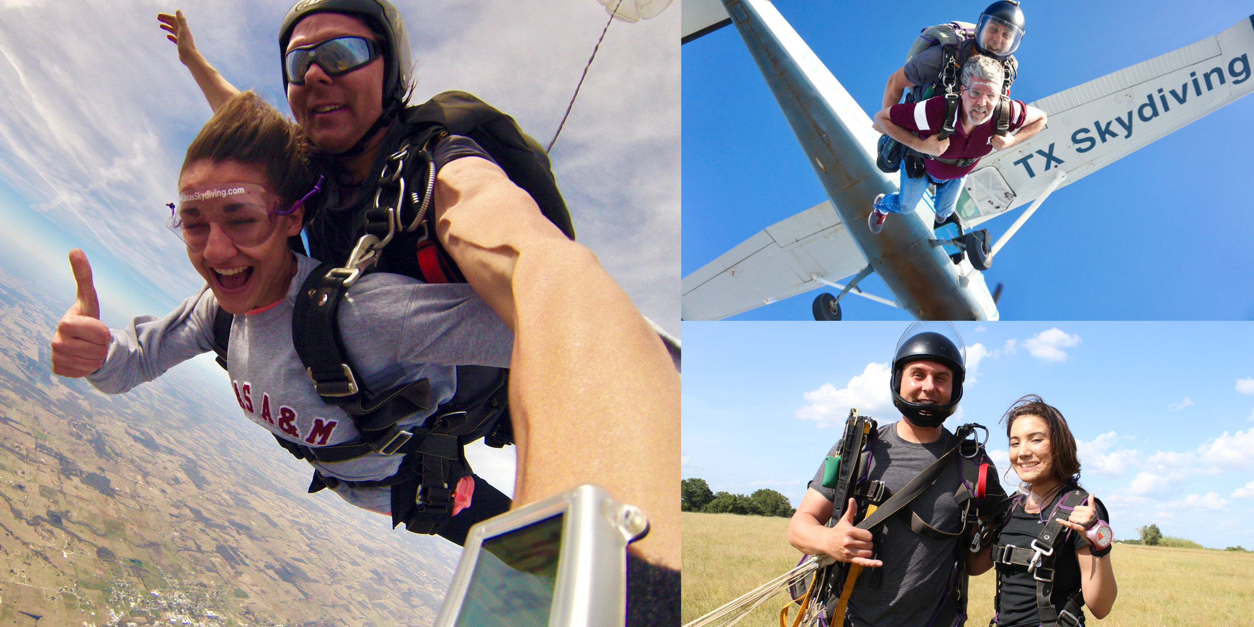 Bryan and College Station skydive at Texas Skydiving!