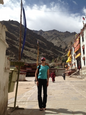 In Leh, Ladakh in India while leading an extraordinary group of volunteers