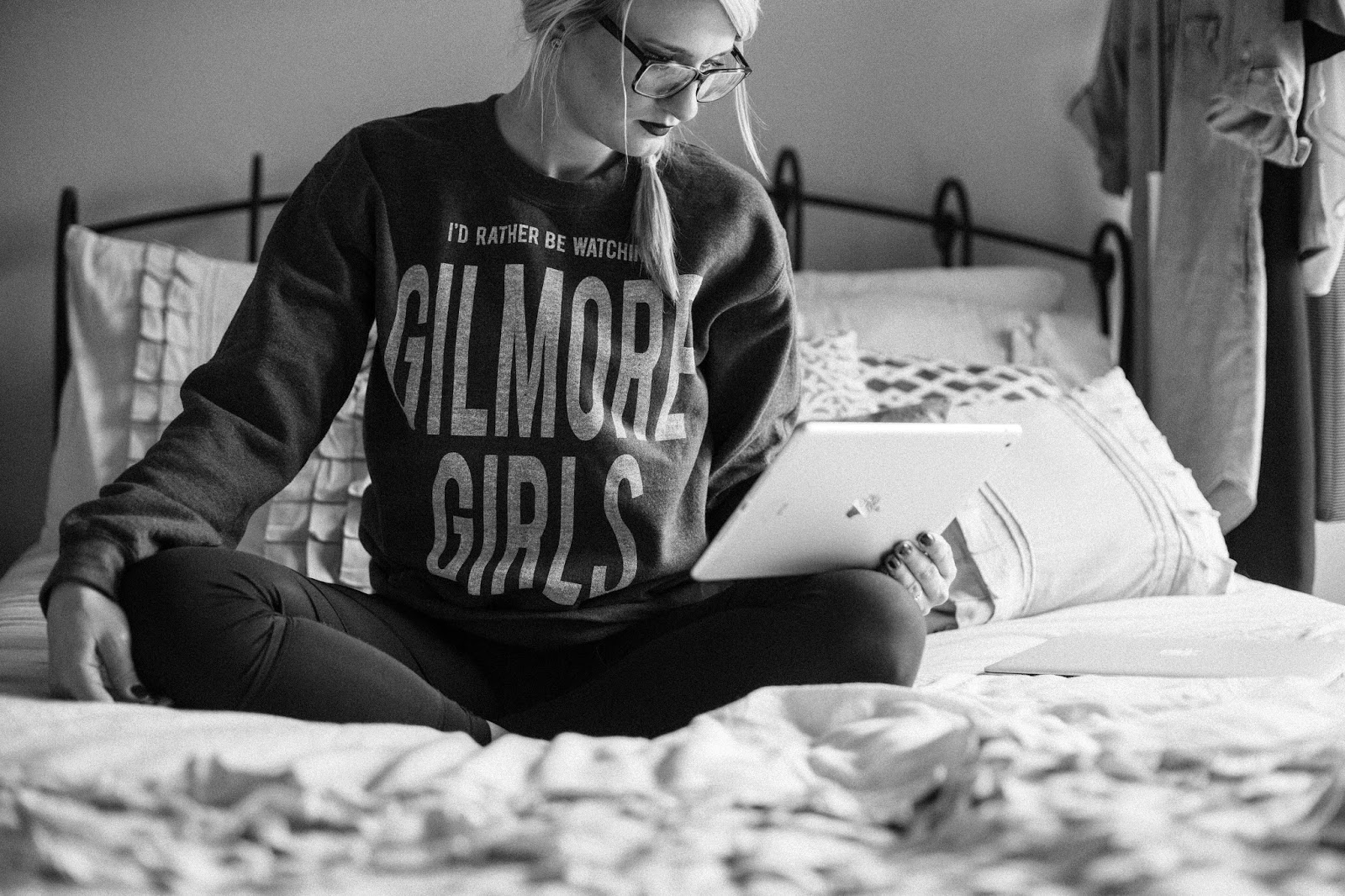 I'd Rather Be Watching Gilmore Girls Sweatshirt from Arsenic & Lace, Photo Credit: Everyday Meg