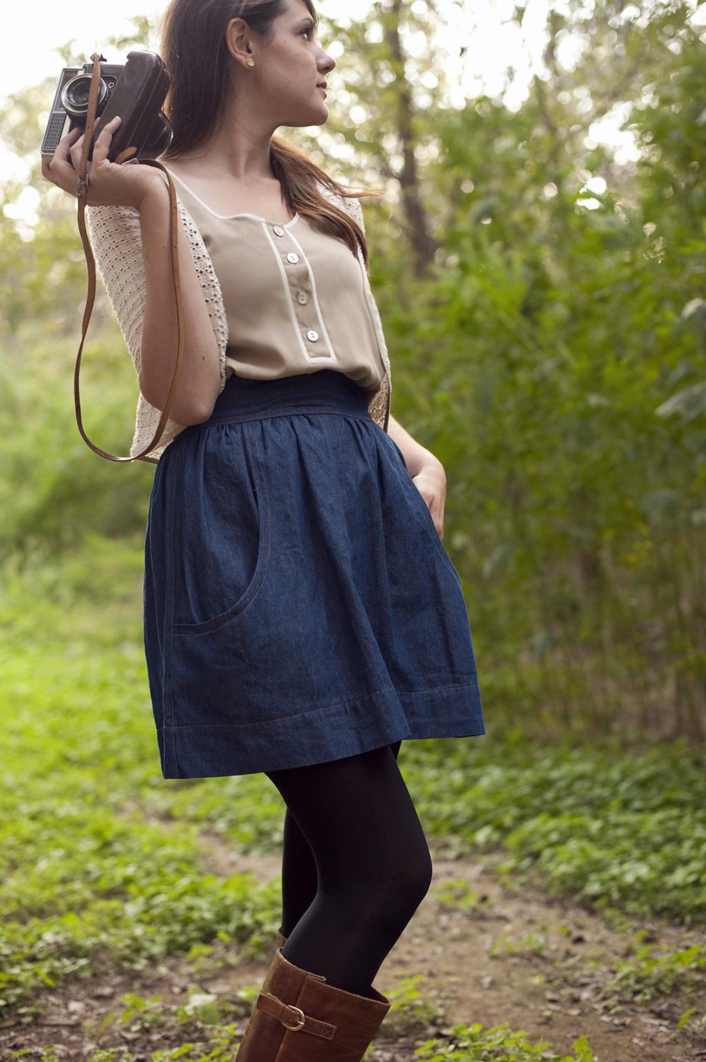 Brumby Skirt Sewing Pattern by Megan Nielsen