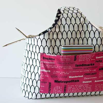 FREE Reversible Box Tote Sewing Pattern