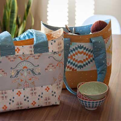 FREE Bucket Basket Tote Sewing Pattern