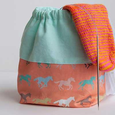 Reversible Sock Knitting Project Bag Tutorial
