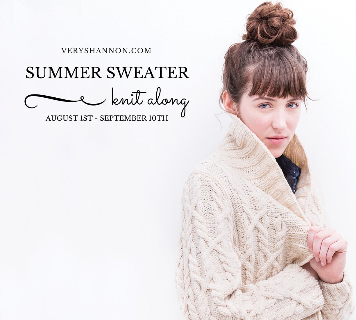 Summer Sweater Knit Along on VeryShannon.com 2016 #sskal #sskal16