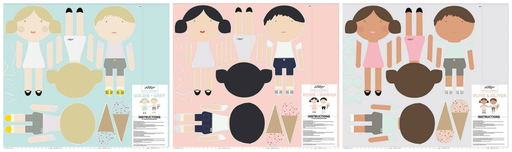 See Kate Sew Doll Fabric #seekatesewdoll