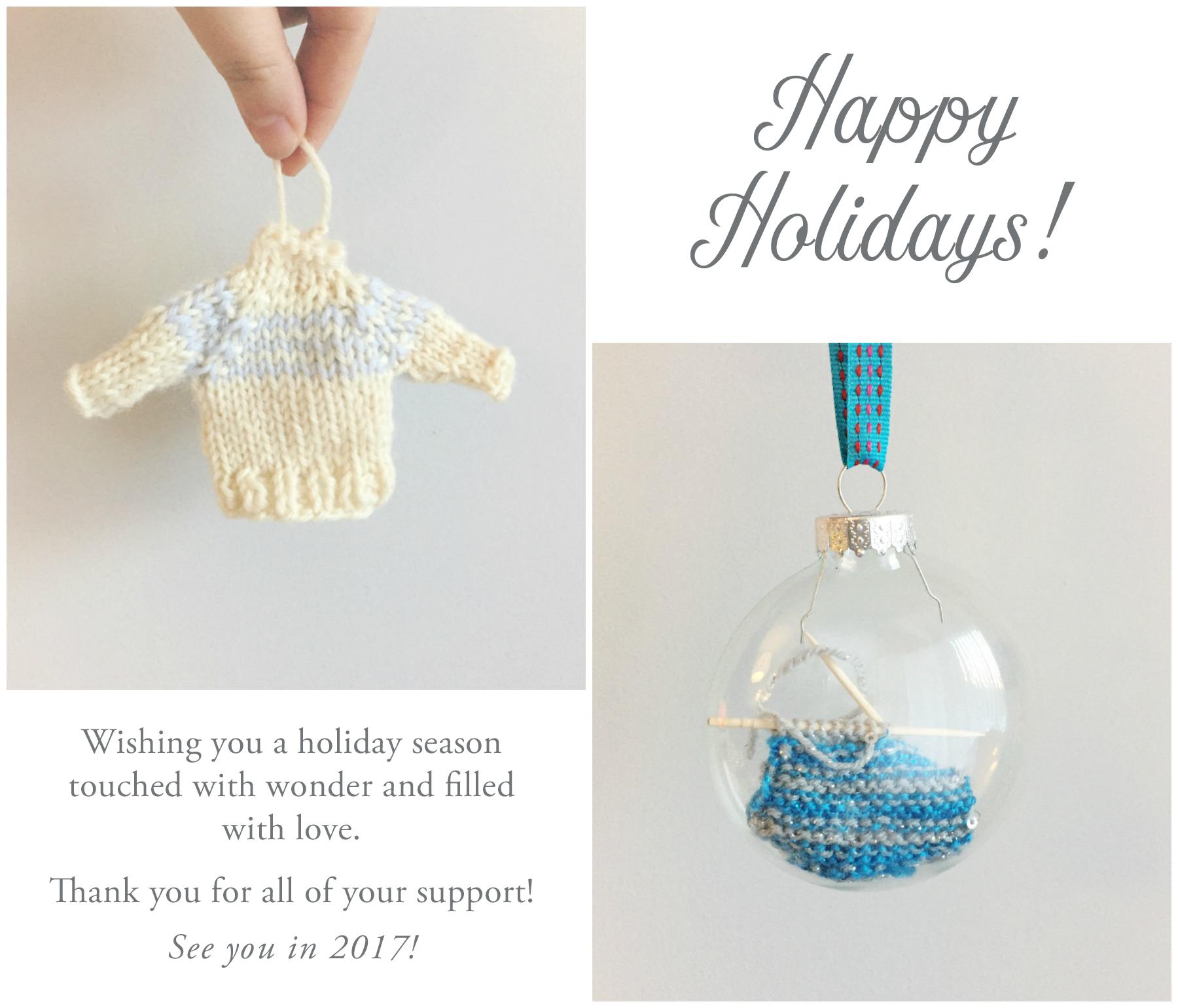 Mini Sweater Ornament on VeryShannon.com
