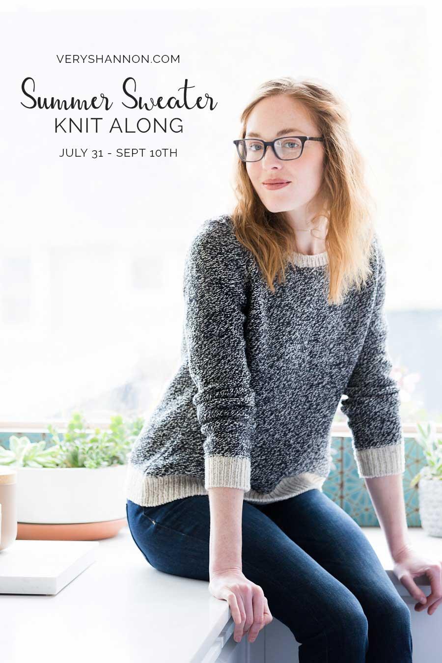 summer sweater knit along 2017 on veryshannon.com #sskal17