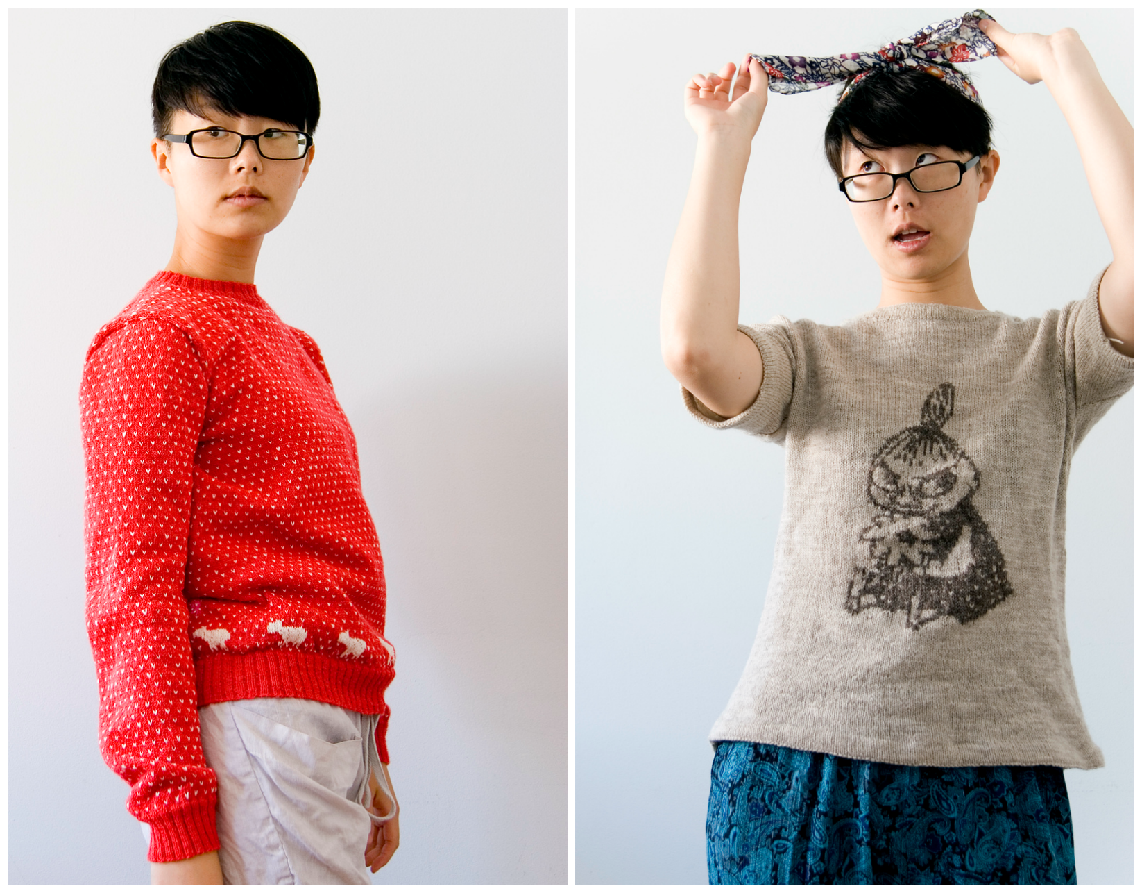 Knitted Sheep Pullover Sweater   and   Lila   knit by lukknits