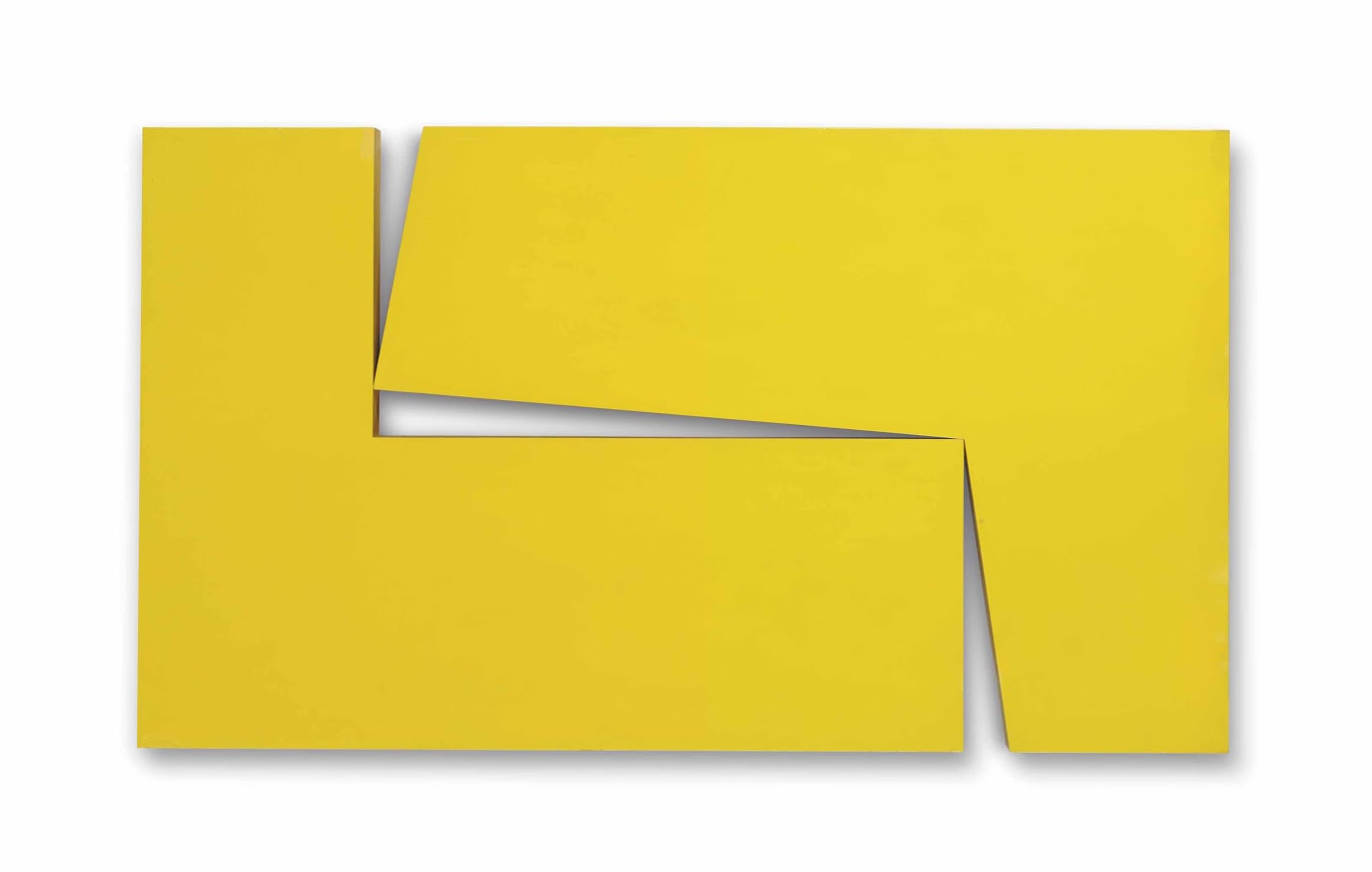 Carmen Herrera, Amarillo Dos, from the series Estructuras (1971)