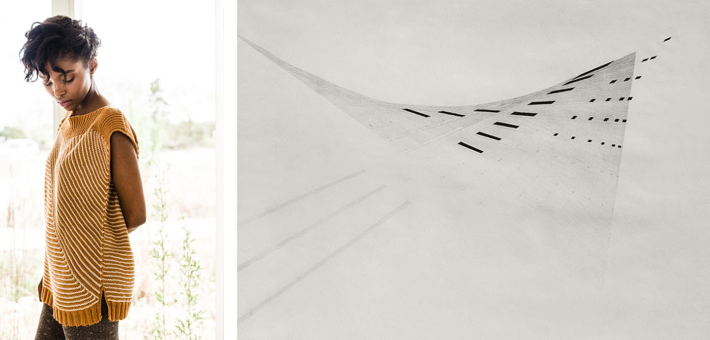 LEFT:  Nasreen top by Lana Jois  / RIGHT:  Nasreen Mohamedi, Untitled