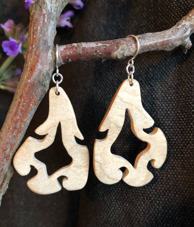 Hardwood Maple Boheme Earrings
