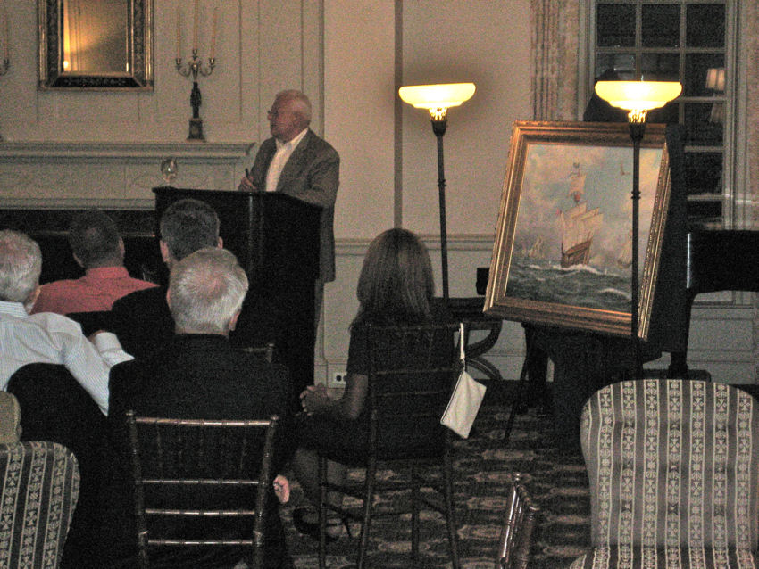 Presentation of painting by William R. Beebe
