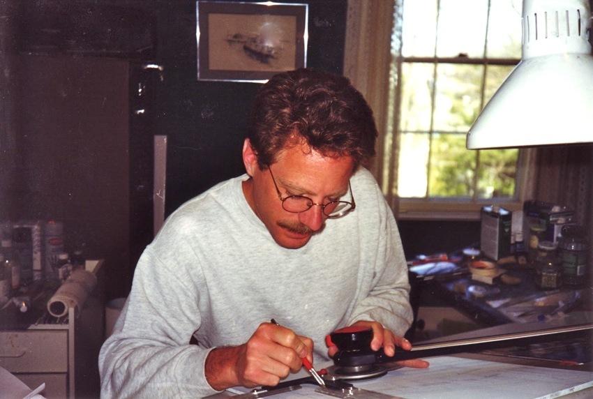 Artist William R. Beebe at work