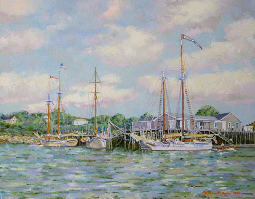 Schooners at Rest by William R. Beebe