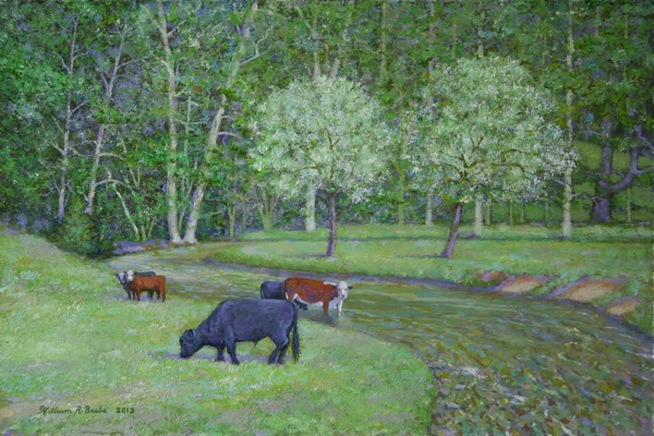 Grazing Alongside Spring Creek by William R. Beebe
